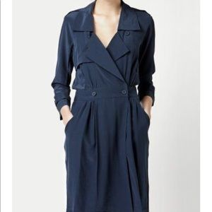 Lacoste trench style silk dress